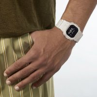 Casio DW-5600WM-5ER zegarek biały sportowy G-Shock pasek