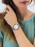fashion/modowy Zegarek srebrny Timex Metropolitan TW2R36200 - duże 3