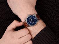 Frederique Constant FC-259NT5B6 zegarek srebrny klasyczny Classics pasek