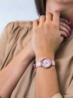 klasyczny Zegarek różowe złoto Fossil Carlie ES4833 CARLIE MINI - duże 3