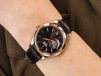 klasyczny Zegarek różowe złoto Orient Contemporary RA-AG0023Y10B Classic Open Heart Automatic - duże 4