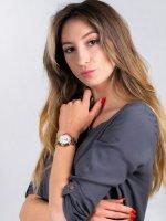 klasyczny Zegarek różowe złoto Timex Model 23 TW2T89400 - duże 2