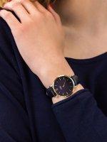 klasyczny Zegarek złoty Cluse Minuit CL30014 Gold/Midnight Blue - duże 3