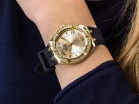 klasyczny Zegarek złoty Guess Pasek GW0034L1 - duże 4