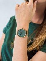 kwarcowy Zegarek damski Cluse La Boheme Gold Stone Green CW0101201027 - duże 3
