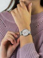 kwarcowy Zegarek damski Cluse Triomphe Silver Salmon Pink Pearl CW0101208013 - duże 3