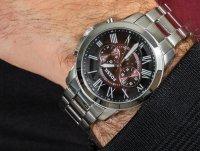kwarcowy Zegarek męski Fossil Grant GRANT FS5628 - duże 4