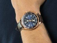 kwarcowy Zegarek męski Nautica Pasek Pilot House Navy Dial Leather Watch NAPPLH003 - duże 4