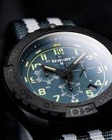 sportowy Zegarek czarny Traser P96 Outdoor Pioneer TS-109050 P96 OdP Evolution Chrono Petrol - duże 8