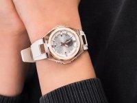 sportowy Zegarek różowe złoto Casio Baby-G MSG-S200G-4AER G-MS METAL BEZEL - duże 4