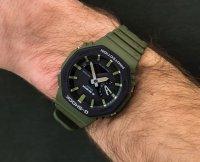 sportowy Zegarek zielony Casio G-Shock GA-2110SU-3AER - duże 4
