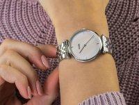 srebrny Zegarek Cluse Triomphe CW0101208013 - duże 4