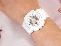 Zegarek biały sportowy Casio Baby-G BA-110RG-7AER pasek - duże 4