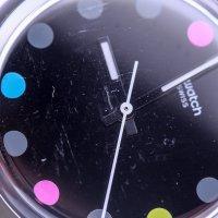 Zegarek czarny fashion/modowy Swatch Originals GB305-POWYSTAWOWY pasek - duże 5