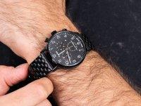 Zegarek czarny fashion/modowy Timex Waterbury TW2R72200 bransoleta - duże 4