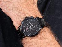 Zegarek czarny fashion/modowy Tommy Hilfiger Męskie 1710383 bransoleta - duże 4