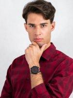 Zegarek czarny klasyczny Armani Exchange Fashion AX7113 pasek - duże 2