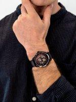 Zegarek czarny klasyczny Tommy Hilfiger Męskie 1791644 bransoleta - duże 3