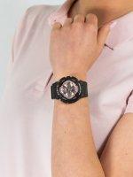 Zegarek czarny sportowy Casio Baby-G BA-130-1A4ER pasek - duże 3