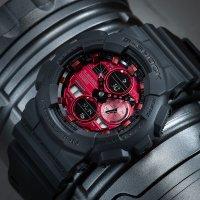 G-Shock GA-140AR-1AER zegarek czarny sportowy G-SHOCK Original pasek