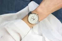 Adriatica A3732.5113QF zegarek srebrny elegancki Bransoleta bransoleta