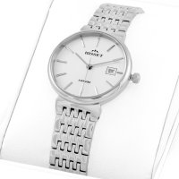 Bisset BSBF04SISX03BX zegarek srebrny klasyczny Biżuteryjne bransoleta