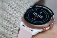 Fossil Smartwatch FTW6022 zegarek biały fashion/modowy Fossil Q pasek