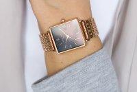 Rosefield QBSR-Q19 zegarek różowe złoto klasyczny Boxy bransoleta
