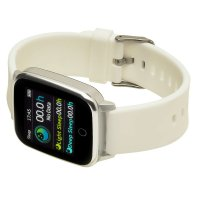 Zegarek damski z krokomierz Garett Damskie 5903246286403 Smartwatch Garett Lady Viki biały - duże 5