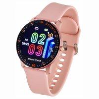 Zegarek damski z krokomierz Garett Damskie 5903246286526 Smartwatch Garett Lady Lira różowy - duże 5