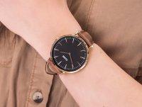 Cluse CL18003 Rose Gold Black/Brown zegarek klasyczny La Boheme