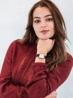 Zegarek klasyczny Cluse La Tetragone CW0101207029 La Tetragone Leather Rose Gold White Pearl/Red Alligator - duże 2