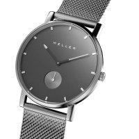 Meller 2SG-2GREY zegarek srebrny klasyczny Maori bransoleta