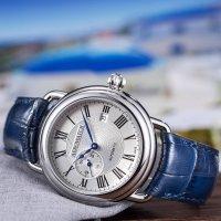 Aerowatch 76983-AA01 zegarek srebrny klasyczny 1942 pasek