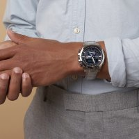 Edifice ECB-800D-1AEF zegarek srebrny sportowy EDIFICE Premium bransoleta