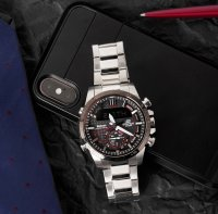 Zegarek męski Casio EDIFICE edifice premium ECB-800DB-1AEF - duże 5