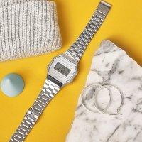 zegarek Casio Vintage A168WEM-7EF srebrny VINTAGE Maxi