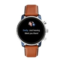 zegarek Fossil Smartwatch FTW4016 kwarcowy męski Fossil Q Gen 4 Smartwatch - Explorist HR Tan Leather