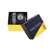 N-83 NAPWGS906 zegarek szary klasyczny Nautica N-83 bransoleta