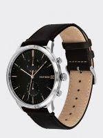 Tommy Hilfiger 1710406 zegarek srebrny klasyczny Męskie pasek