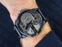 Zegarek niebieski fashion/modowy Diesel Daddies DZ7414 bransoleta - duże 4