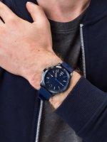 Zegarek niebieski klasyczny Tommy Hilfiger Męskie 1791621 pasek - duże 3