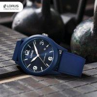 Lorus RT355HX9 zegarek niebieski sportowy Sportowe pasek
