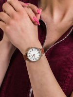 Zegarek różowe złoto fashion/modowy Fossil Jacqueline ES4413 pasek - duże 3