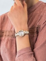 Zegarek różowe złoto fashion/modowy Fossil Virginia ES3716 bransoleta - duże 3