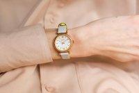 Zegarek różowe złoto klasyczny Fossil Carlie ES4834 pasek - duże 8