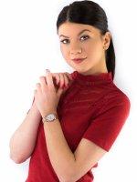 Zegarek różowe złoto klasyczny Seiko Classic SUR624P1 bransoleta - duże 2