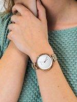 Zegarek różowe złoto klasyczny Skagen Tanja SKW2484 pasek - duże 3