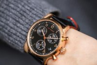 Zegarek różowe złoto klasyczny Ted Baker pasek BKPCSF905 pasek - duże 5