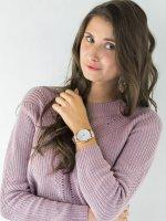 Zegarek różowe złoto klasyczny Timex Crystal Opulence TW2T78000 pasek - duże 2